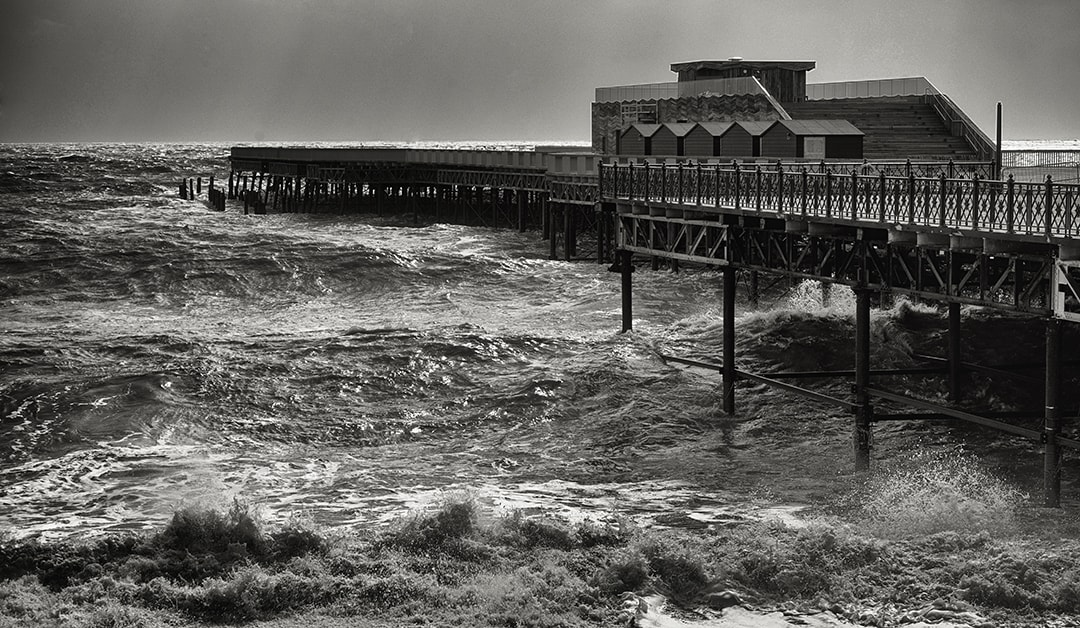 Hastings Pier in a Storm by Paul Bussell