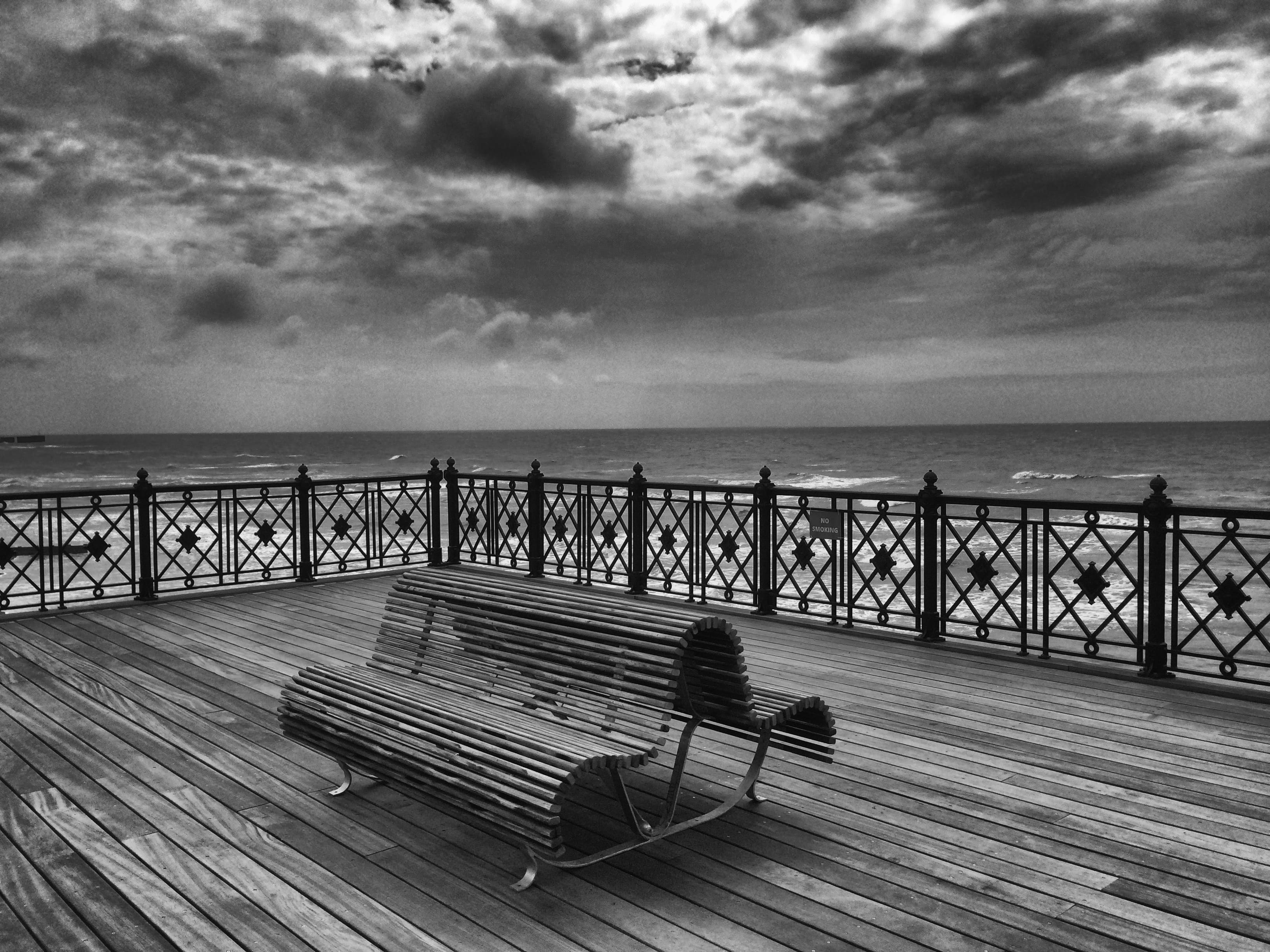 Hastings Pier Bench by Paul Bussell